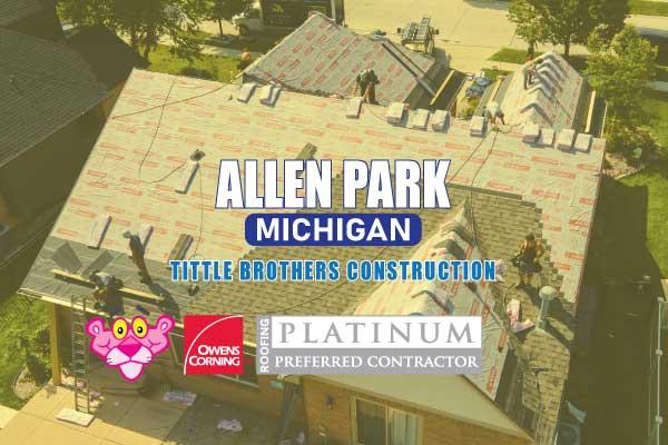 Certified Roofer in Allen Park Michigan